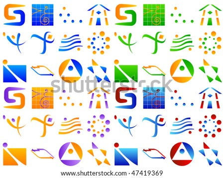 Various Abstract Vector Icon Design Element Set - stock vector