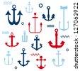 Various Anchor Collection - for your logo, design, scrapbook - in vector - stock vector