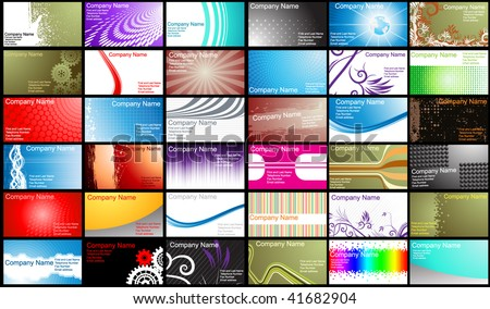 Various Business Card templates. Vector. - stock vector