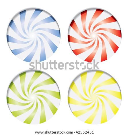 Various candies - stock vector