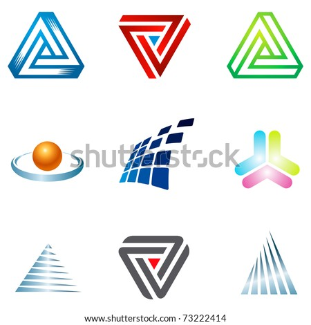 Various colorful corporate icons for your  designs. - stock vector
