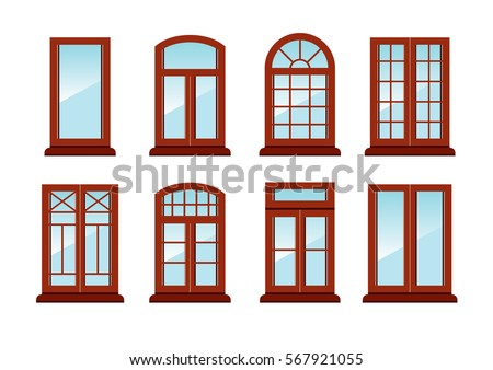 window frame coloring pages - photo#34