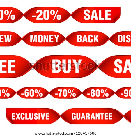 various discount tags and labels - stock vector