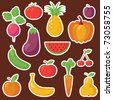 Various Fruits and Vegetables - stock