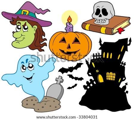 Various Halloween images 4 - vector illustration.