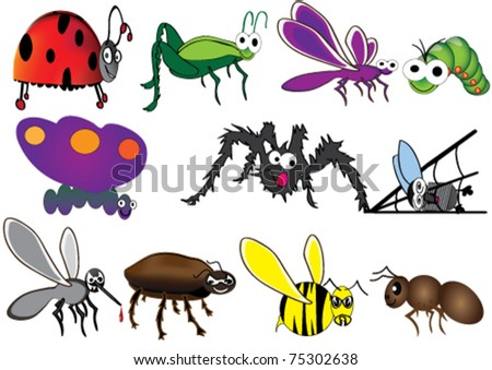 Cute insect drawing - photo#23
