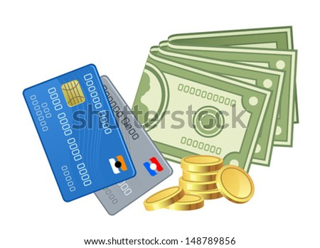Various money - stock vector