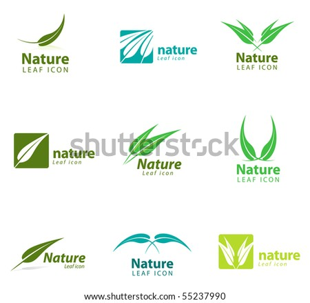 Various nature and leaf icon templates for you designs.