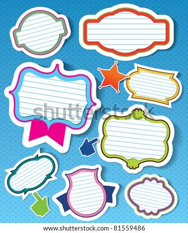 various of vector frames design - stock vector