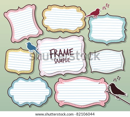 various of vector frames design - stock vector