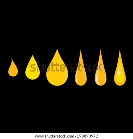 Various oil droplets - stock vector