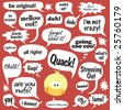 Various phrases in comic balloons - stock photo
