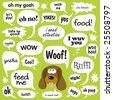 Various Phrases in comic bubbles - stock photo