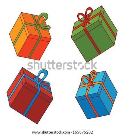 various presents - stock vector