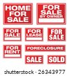 Various Real Estate and Business Signs. Please see my variations on this theme - other vector Real Estate signs. - stock photo