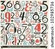 Various Retro Vintage Number and Typography Collection. For High Quality Graphic Projects. - stock vector