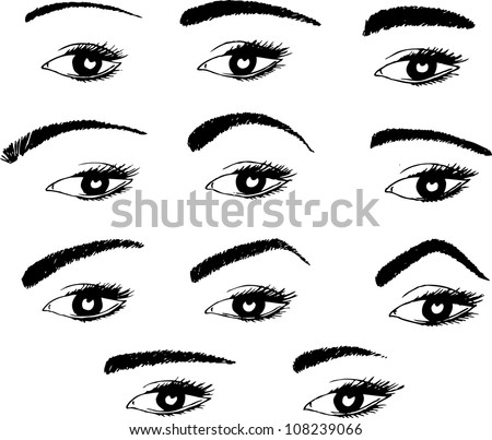 various shapes of eyebrows Bushy Eyebrow Clip Art