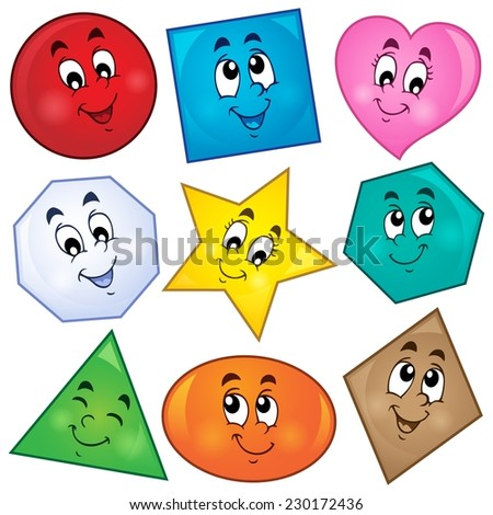 Various shapes theme image 1 - eps10 vector illustration. - stock vector