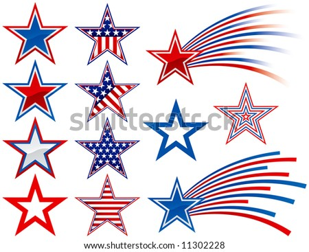 Various Stars to add to your designs - stock vector