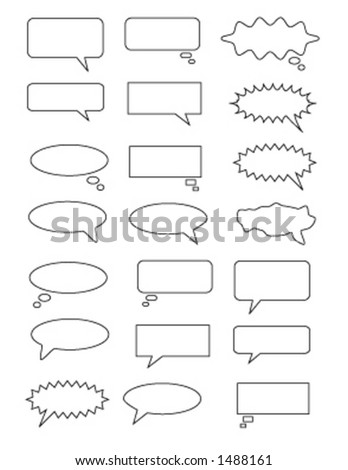 various thought and talk bubbles - stock vector
