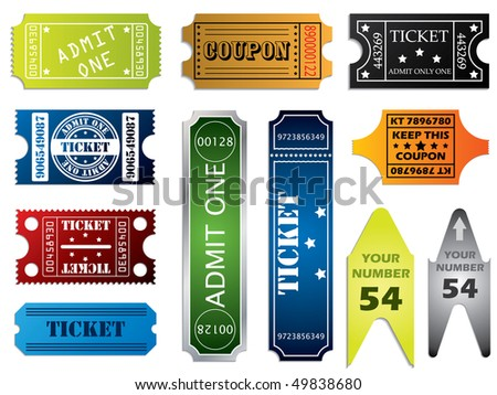 Various ticket set - stock vector