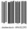 various tyre treads - stock photo