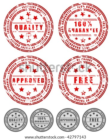 Various vector stamps - stock vector