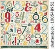 Various Vintage Number and Typography Collection. For High Quality Graphic Projects. - stock vector