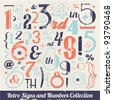 Various Vintage Number and Typography Collection. For High Quality Graphic Projects. - stock