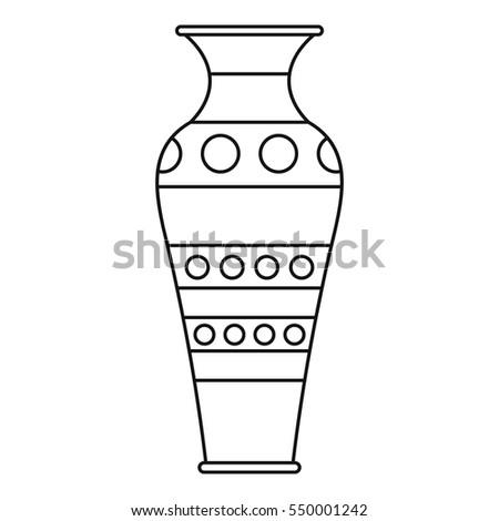 Vase Icon Outline Illustration Vase Vector Stock Vector Royalty