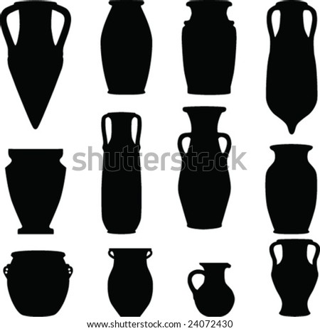 Vase Silhouette Stock Images Royalty Free Images