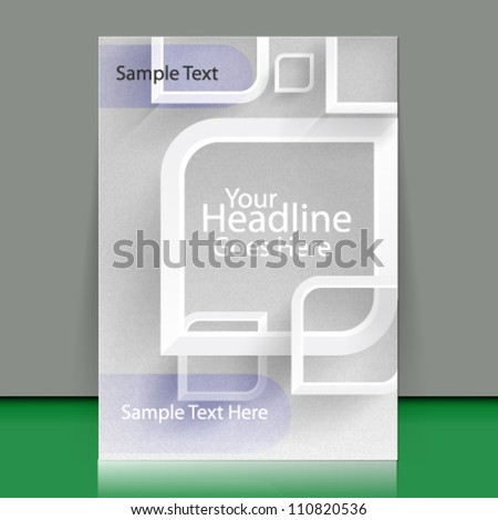 vecter flyer template concept design - eps10 - stock vector