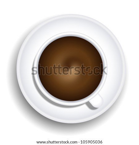 Vector a cup of coffee isolated on white background. Eps 10 - stock vector