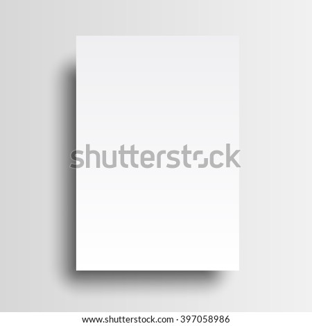 Vector A4 mockup isolated on white background