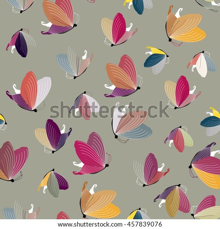 Vector a seamless sample of a butterfly for children's design