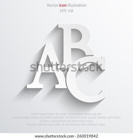 Vector abc icon illustration background. - stock vector