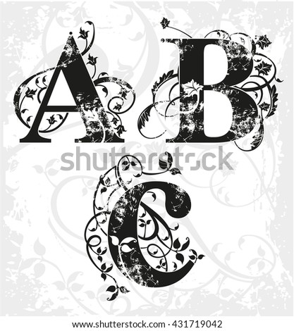 Vector ABC letters