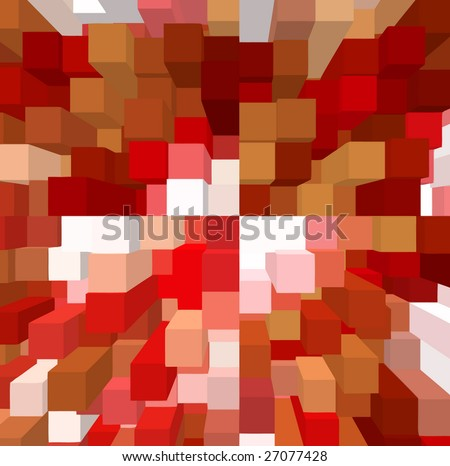 vector - above view of geometry - stock vector