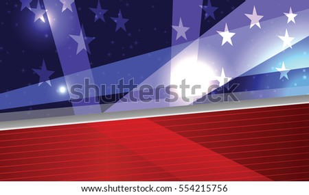 Vector Abstract American Patriotic Festive Background, Eps 10, Transparency Used