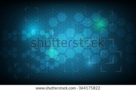 vector abstract background blue hexagon pattern sci fi design technology innovation concept
