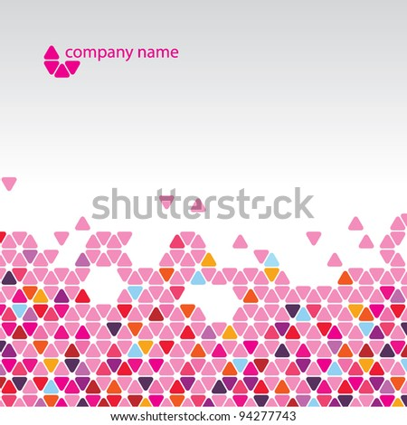 Vector abstract background - Cool pink cell structure - stock vector