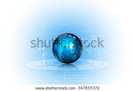 vector abstract background digital globe tech innovation concept - stock vector