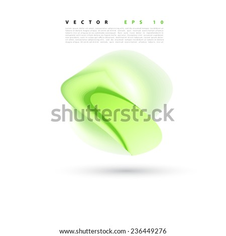 Vector abstract background flower. Brochure design templates collection green