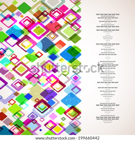 vector abstract background for your business or technology or other presentation. Template for your design
