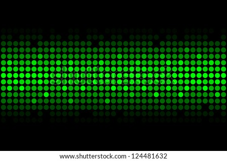 Vector abstract background - green lights - stock vector