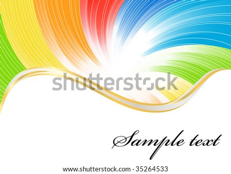 Vector abstract background in bright color; clip-art - stock vector