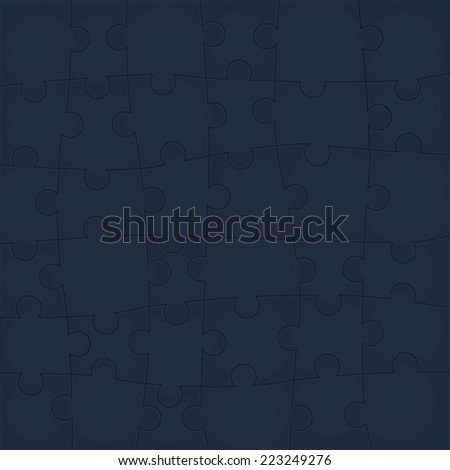 Vector Abstract background made from red puzzle pieces and place for your content - stock vector