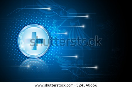 vector abstract background medical health care science concept template