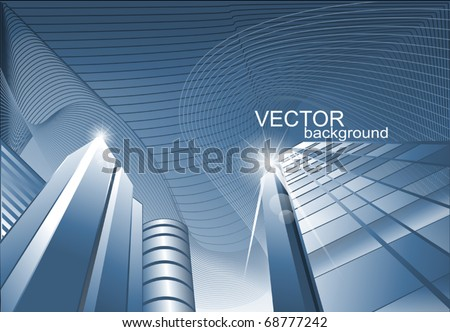 vector abstract background of the building, offices for business - stock vector