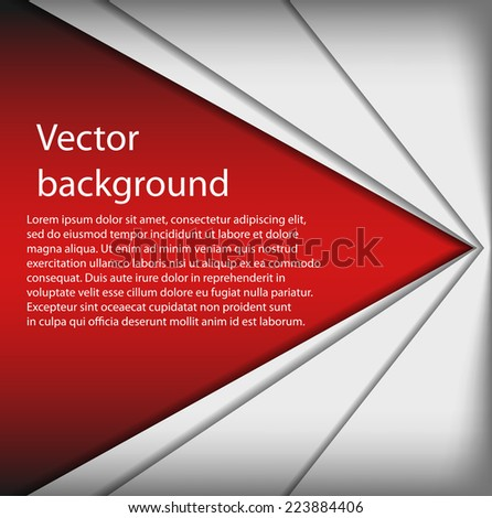 Vector abstract background. Overlap dimension modern line bar design for text and message. Template design.  - stock vector